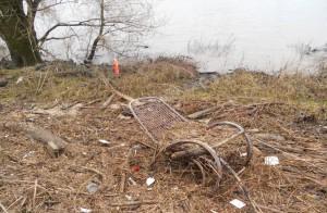 Hochwasser Spuren