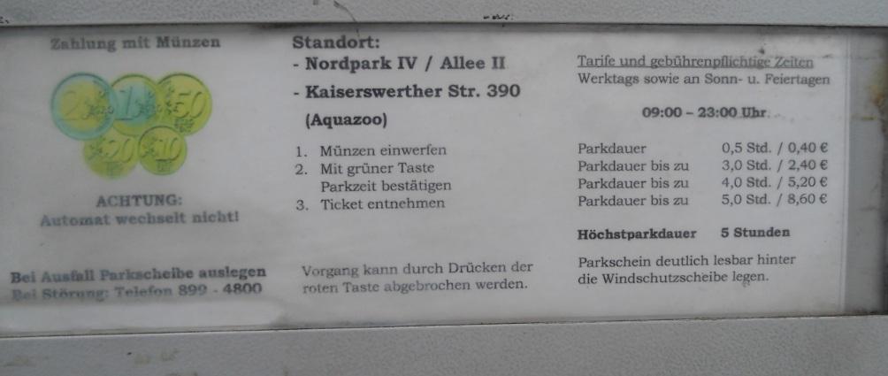 Aquazoo Löbbecke Museum Düsseldorf Im Nordpark Mit Parkplatz