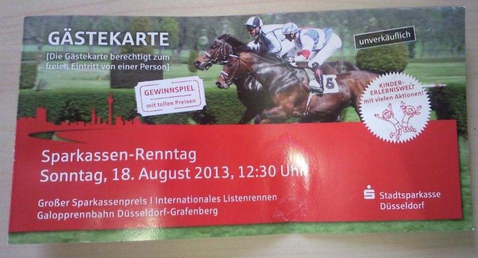 Pferderennen Eintrittskarte